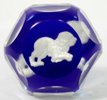 Baccarat Zodiac Paperweight, Leo the Lion
