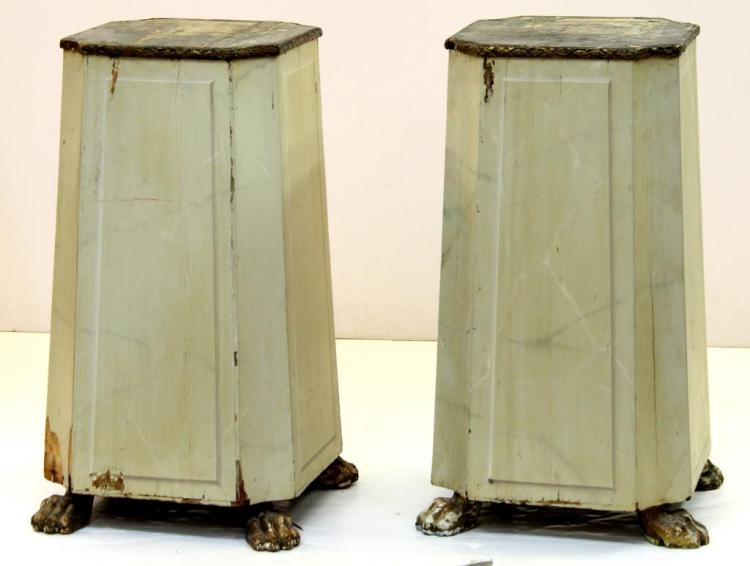 Pair of Rectangular Painted Wood Pedestals