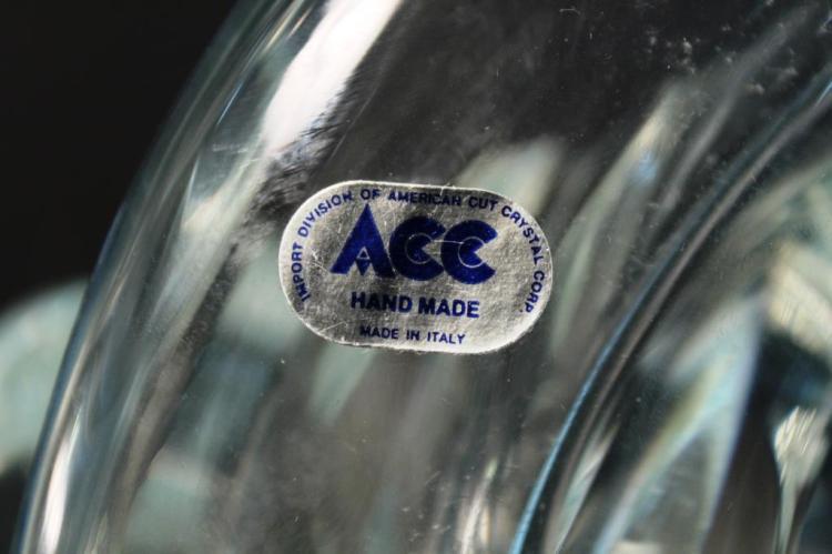 Vintage Licio Zanetti Murano Art Glass Cornucopia