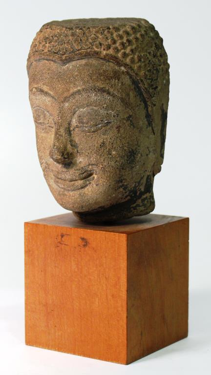 Mon Hariphunchai Stone Buddha Head, Thailand