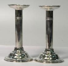 Pair of Meriden Britannia Sterling Candlesticks