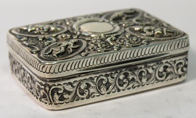 Southeast Asian-Themed English Silver Box, 1905