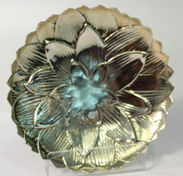 Tiffany & Co. Sterling Silver Water Lily Dish