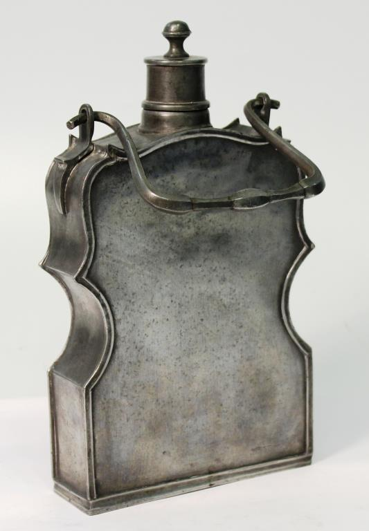 Antique French Pewter Flask