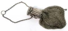 Victorian Sterling Silver Mesh Gate-Purse