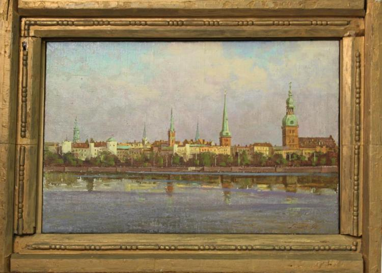 Latvian School, Oil on Canvas