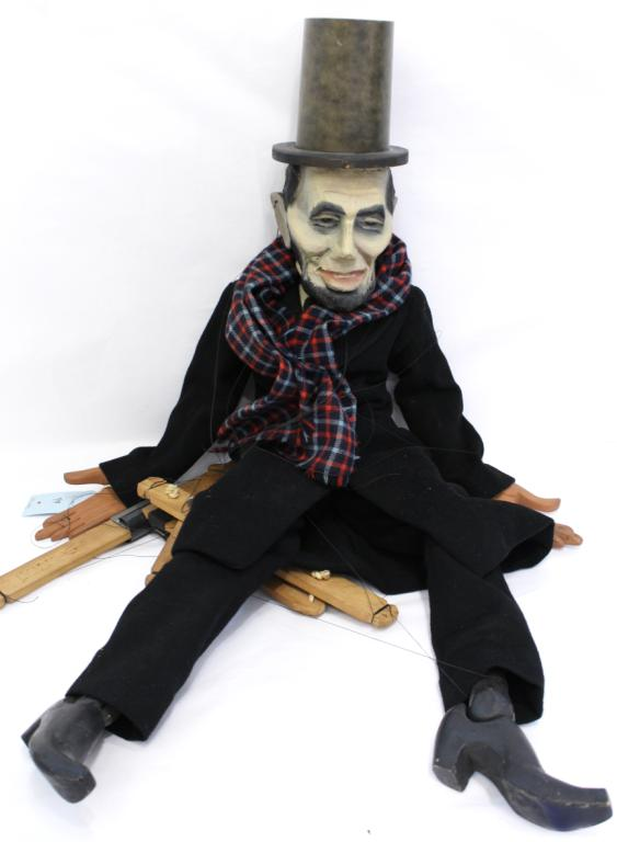 Marionette of Abraham Lincoln, Attrib. Bil Baird