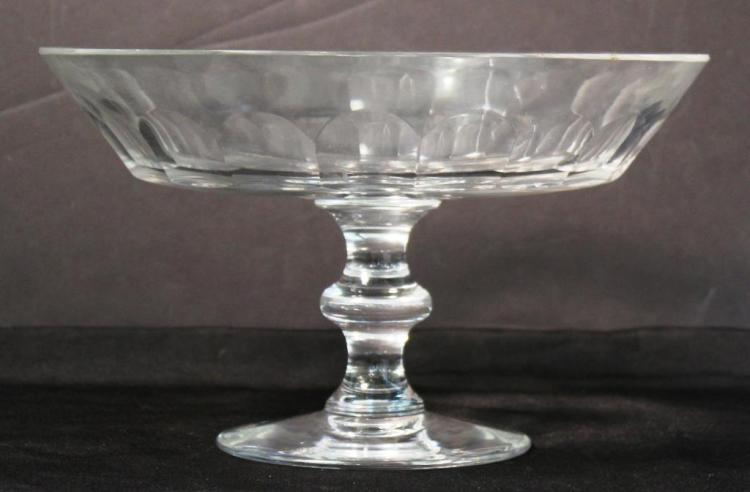 Val St. Lambert Cut Crystal Compote