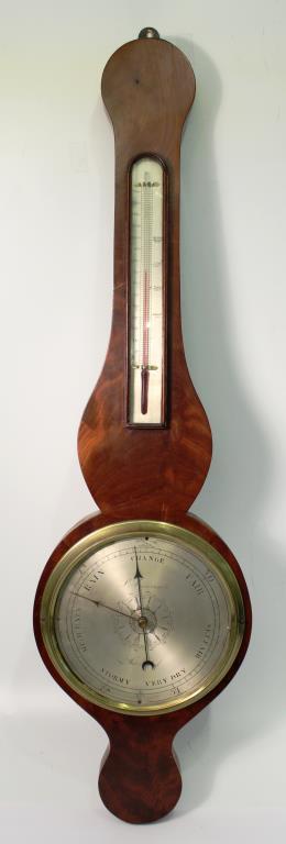 L-Caminada Mahogany Wheel Barometer