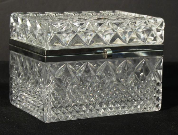 Bohemia Cut Lead Crystal & Silver-tone Metal Box