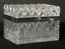 Bohemia Cut Lead Crystal & Silver-tone Metal Box