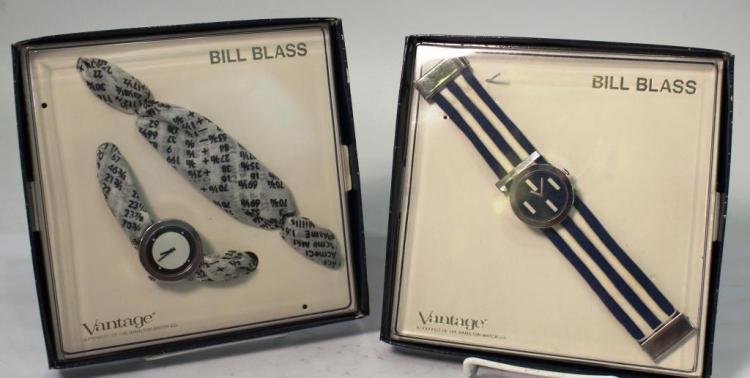 Bill Blass for Hamilton- 2 Vintage Watches