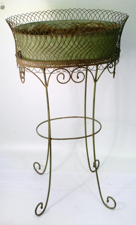 Elegant Woven Wire Plant Stand