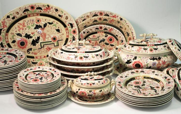 Mason's Ironstone Imari-Style Dishes, ca. 1860