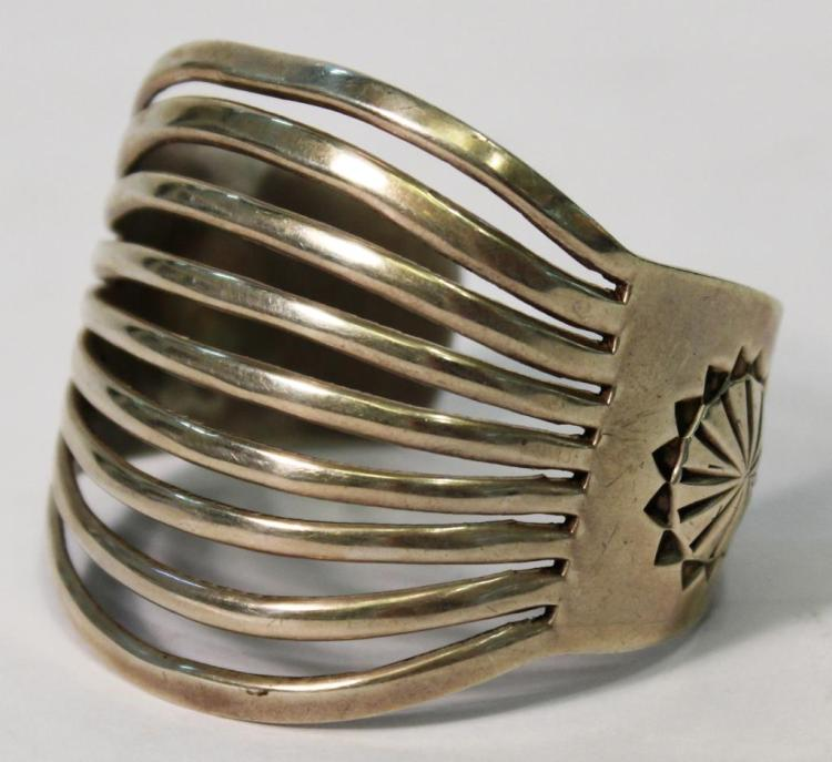 Larson L. Lee Navajo Sterling Cuff