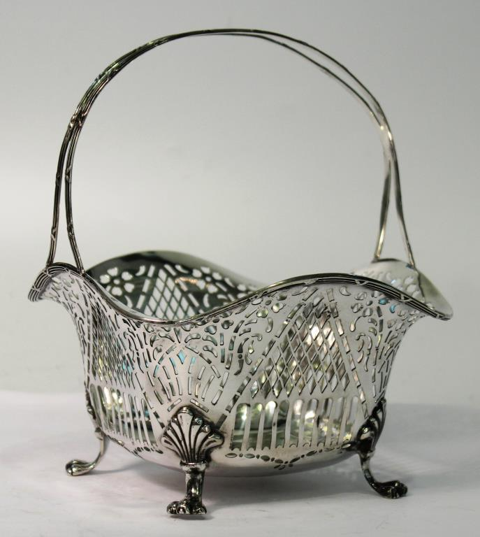 Black, Starr & Frost Reticulated Sterling Basket