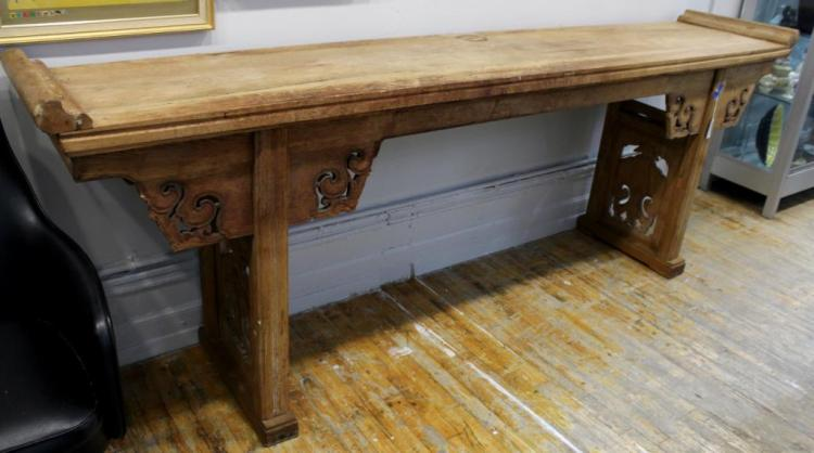 Chinese Bleached Elmwood Altar Table