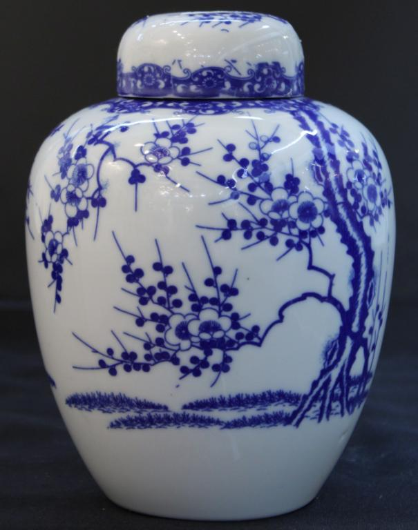 Chinese Blue & White Prunus Ginger Jar