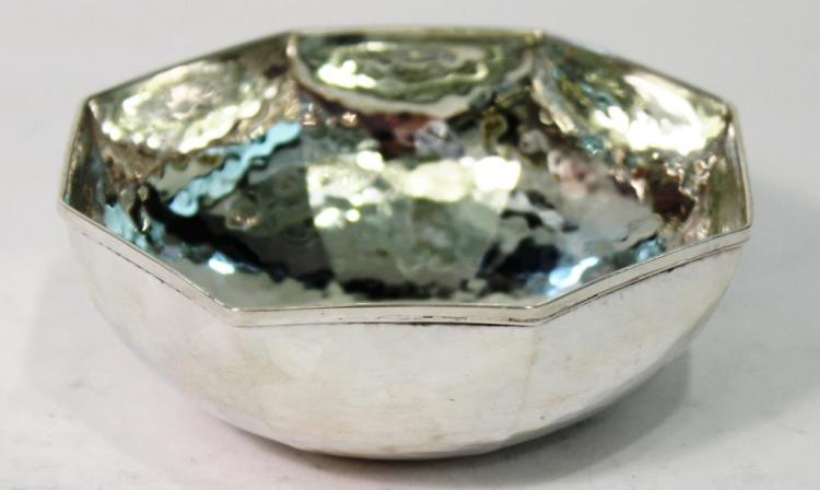 Small Greek Sterling Silver Octagonal Bowl
