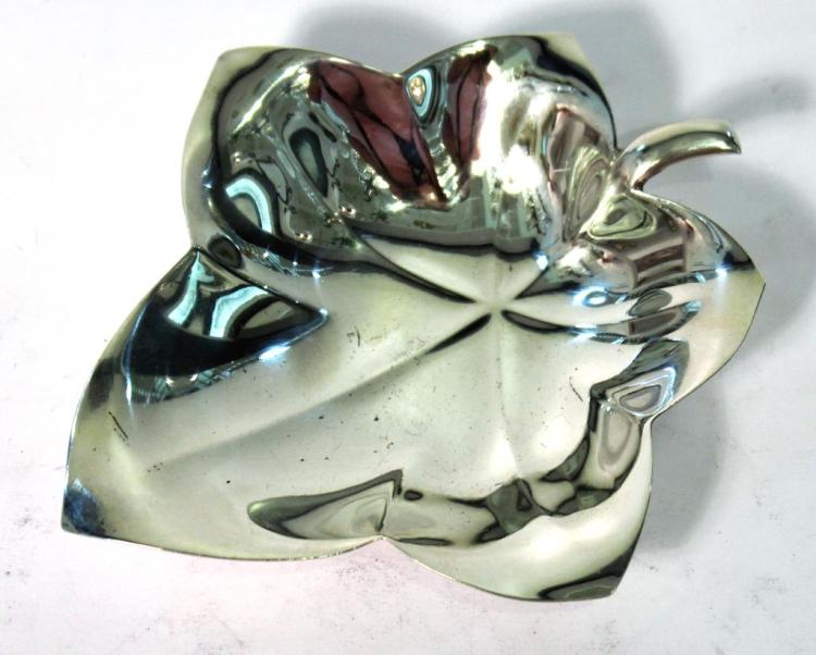 Tiffany & Co. Sterling Maple Leaf Dish