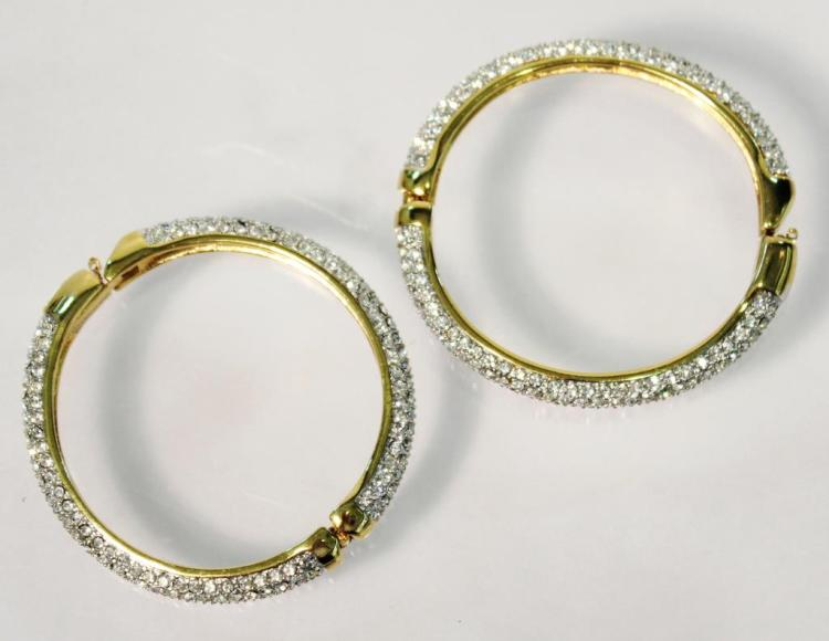 Pair of Swarovski Hinged Bangles