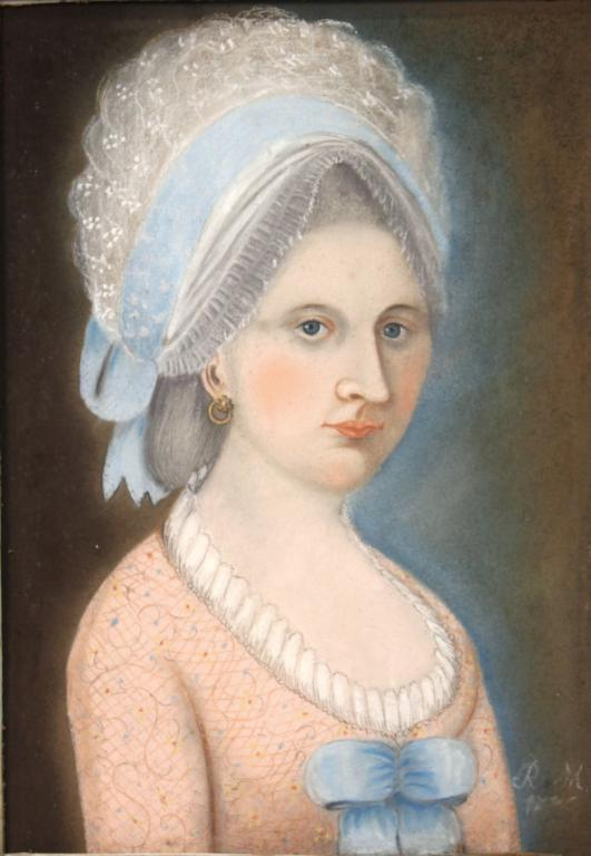 Portrait of a Young Woman, Chalk on Paper, 18th C.