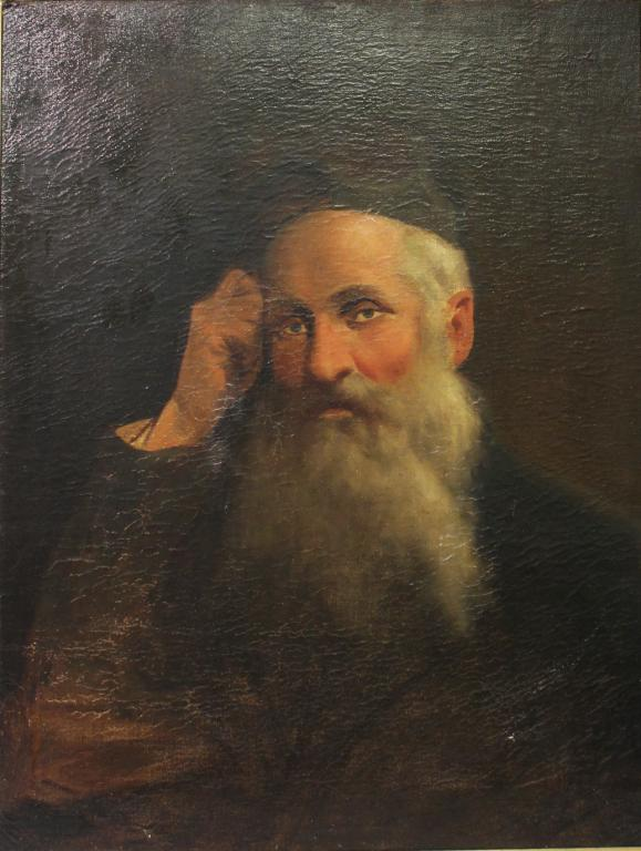 Oil on Canvas, Portrait of a Rabbi