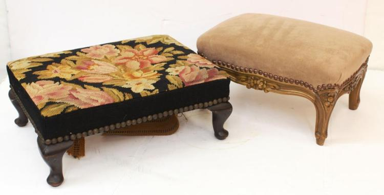 2 Small Vintage Foot Rests