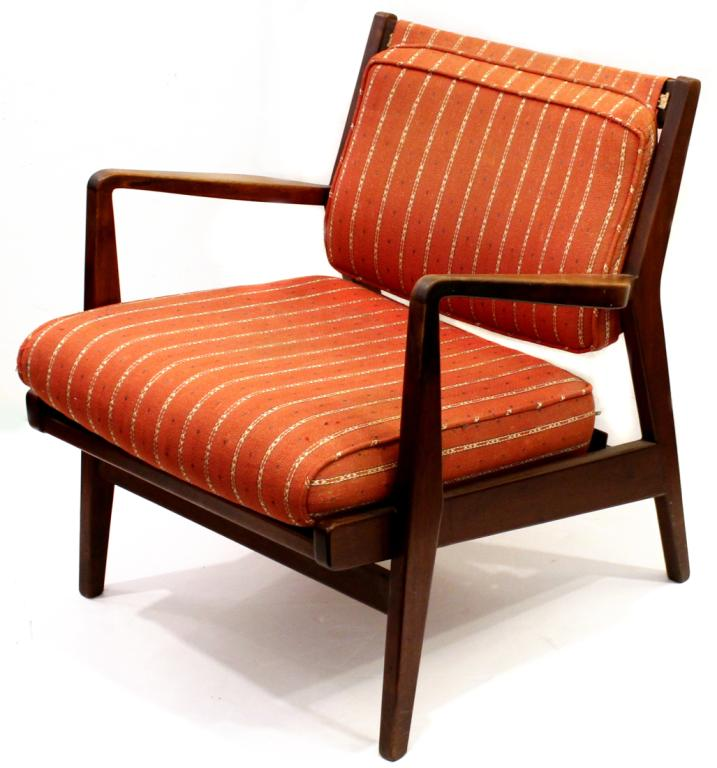 Jens Risom Danish Modern Teakwood Arm Chair