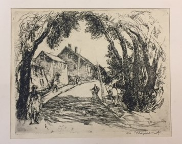 William Meyerowitz (American, 1887-1981)- Etching