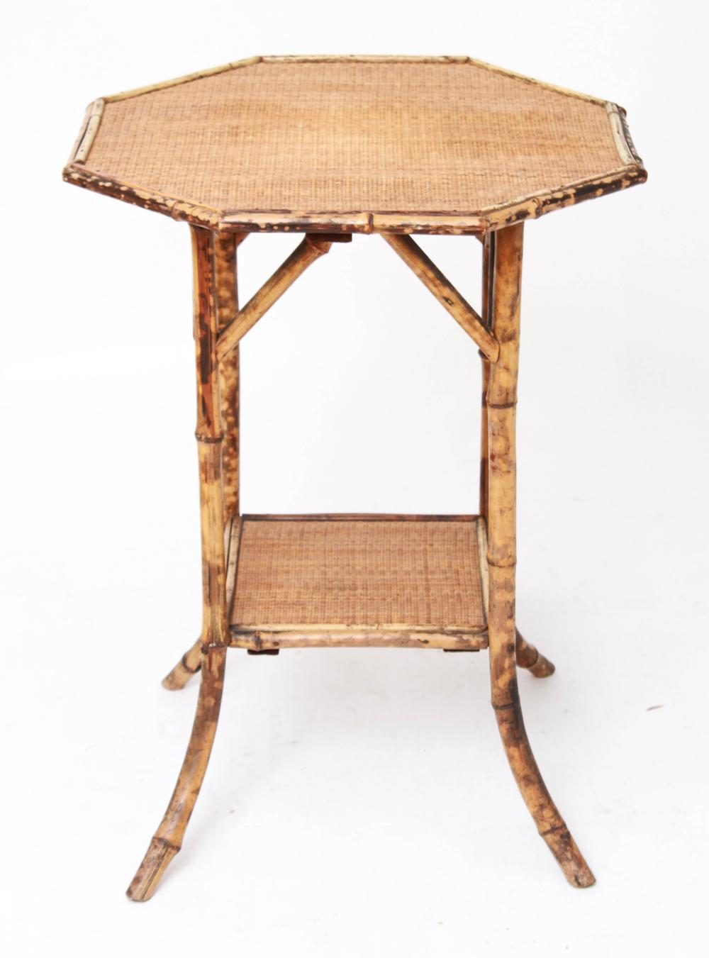 Sold Price Aesthetic Mvt Octagonal Bamboo Rattan Side Table Invalid Date Edt