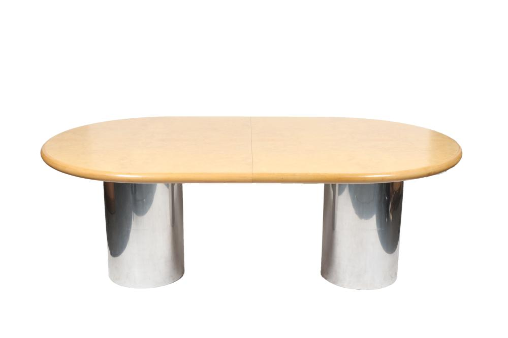 Sold Price Modern Oval Top Double Pedestal Dining Table Invalid Date Edt