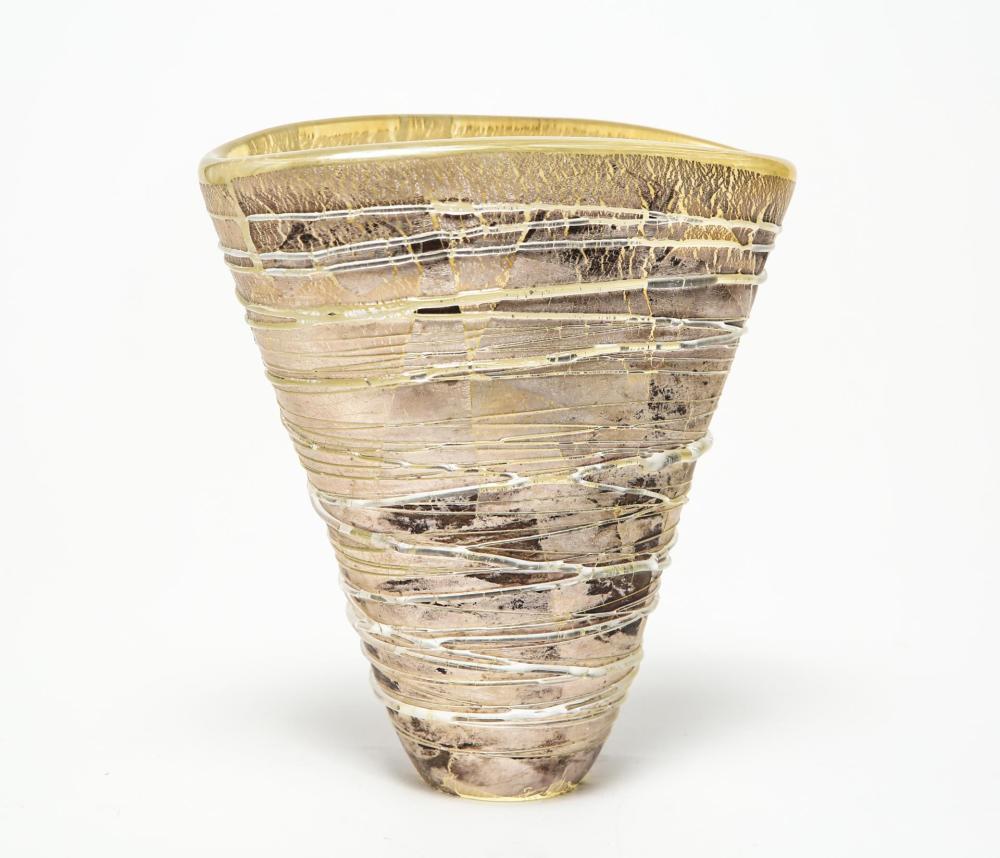 Adam Aaronson Modern Studio Art Glass Vase