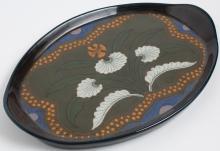 Nippon Art Nouveau Painted Porcelain Tray