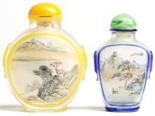 2 Chinese Inside-Reverse-Painted Snuff Bottles
