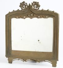 Small Gilt Bronze Gothic Tracery-Framed Mirror