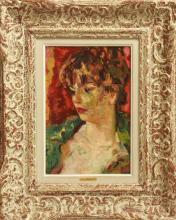 "Luigi Corbellini ""Portrait of a Woman"" Oil"
