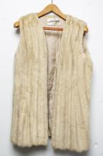 Vintage Mink Fur Vest, White, A. Charsky