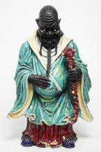 Antique Japanese Pottery Figure of Deity or Demon