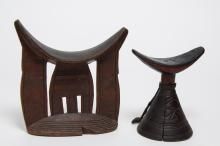Ethiopian Carved Wood Head Rests / Pillows, 2
