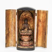 Japanese Zushi Traveling Amida Buddhist Shrine