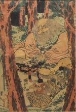 Utagawa Kunisada (Japanese, 1786-1864)- Woodblock