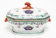 European Porcelain Armorial Tureen, 19 C.