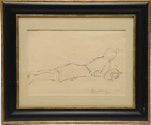 Moise Kisling (American, 1891-1953)- Drawing