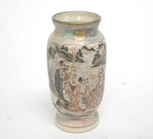 Antique Japanese Satsuma Porcelain Vase