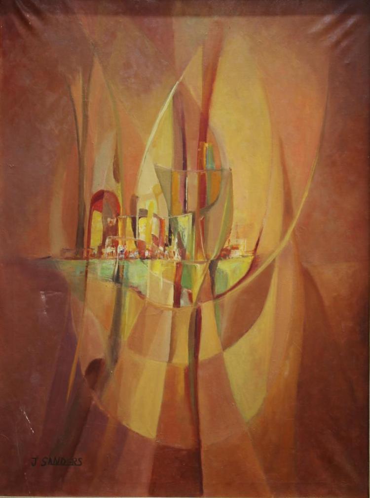 Joop Sanders (Netherlands, 20th C.)-Oil on Canvas
