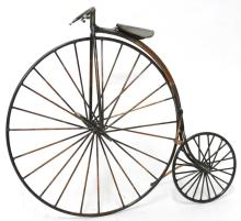 Mixed Metal Wire Bicycle Sculpture, 20th C.