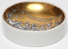 Fornasetti Vintage Italian Gilt Porcelain Ashtray