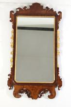 Antique Chippendale Giltwood Mahogany Mirror