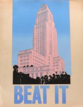 "Stanley Migas ""Beat It"" Pop Art Protest Poster"